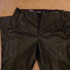 Black leather Lauren Ralph Lauren pants